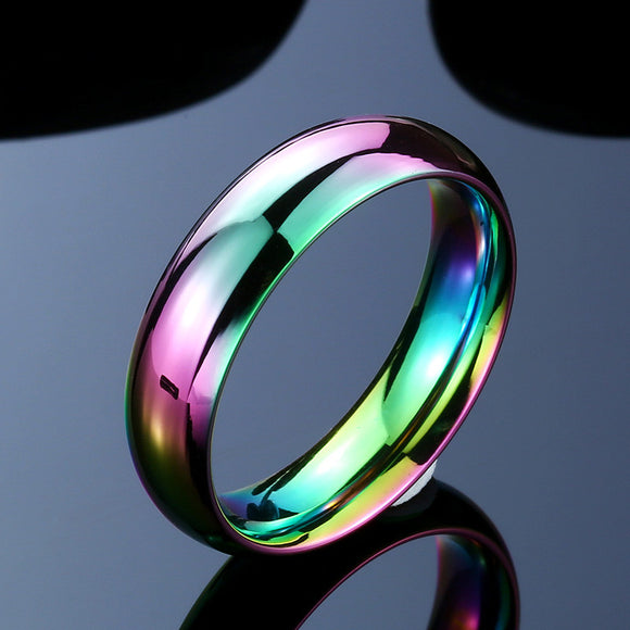 High Quality Vibrant Gay Pride Ring