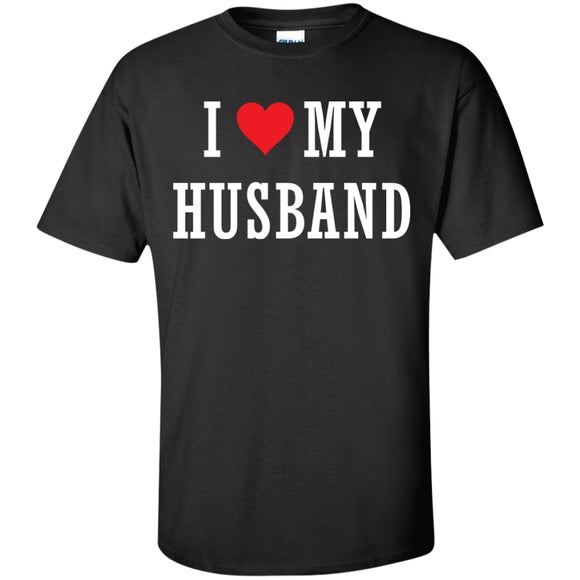 I Love My Husband black tshirt