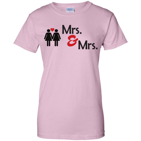 Lesbian cute couple pink tshirt for women