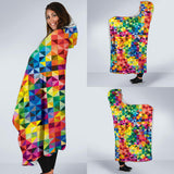 Multi color Pride Hooded Blanket