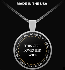 This Girl Loves her Wife Necklace (Valentine special)