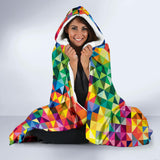 Vibrant Rainbow Pride Hooded Blanket