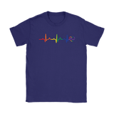 LGBT Pride Heartbeat purple tshirt for men & women