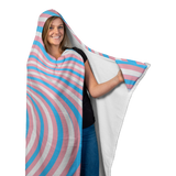 Transgender Pride Flag Illusion Pattern Hooded Blanket