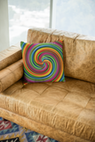 Rainbow Pride Color Illusion Pattern Pillow (Variant I)