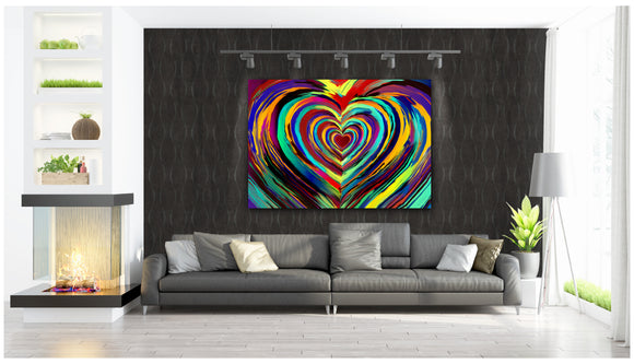 Pride Heart Canvas