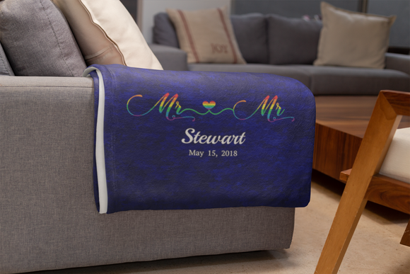 Personalized Mr. & Mr. Pride Blanket