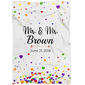 Personalized Mr. & Mr. Fleece Blanket