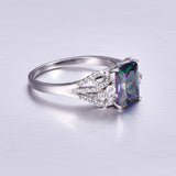 Rainbow Ring made of Sterling Silver & Rainbow Topaz