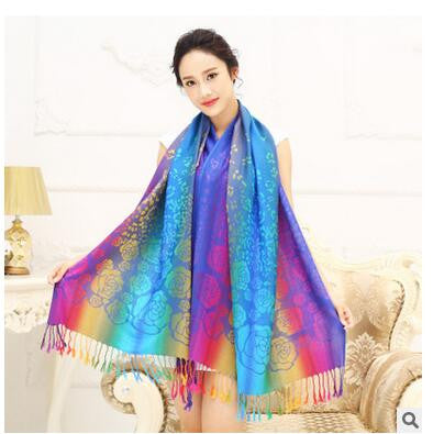 Rainbow Gay Pride Warm Winter Pashmina Scarf