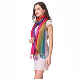 Rainbow Cotton Pashmina Scarf
