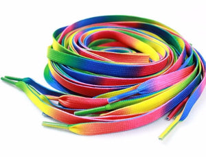 Rainbow Color Shoelace for LGBT Gay and Lesbian Converse Shoes, Gay Pride Shoelaces