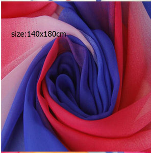 Bisexual Color Chiffon Scarf