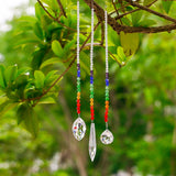 Crystal Prism Rainbow Octogon Chakra Hanging Suncatcher - Home Garden Decoration [Set of 3]