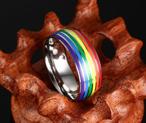 New Gay Pride Wedding Rings for Women and Men