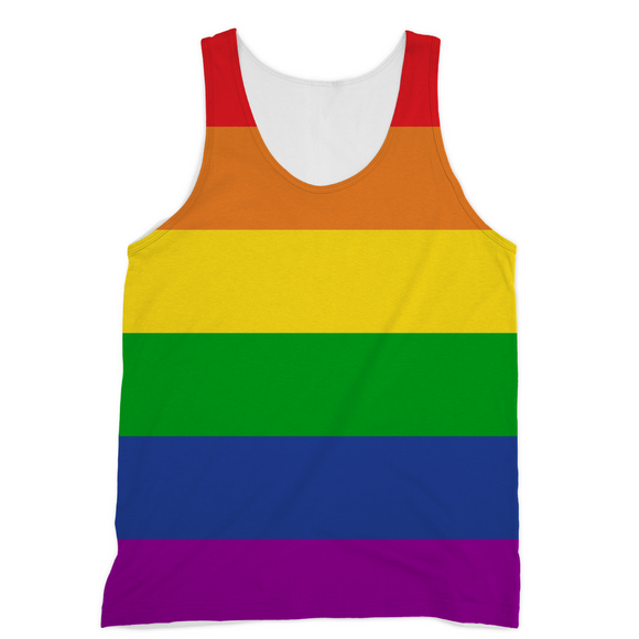 Rainbow Color Gay Pride Sublimation Sublimation Vest