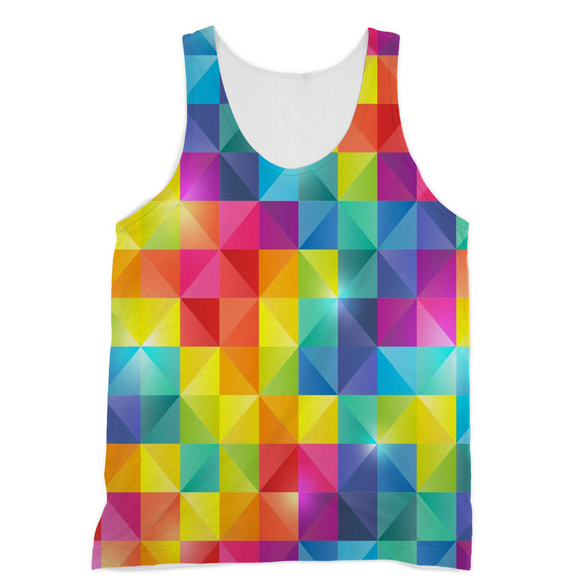Vibrant Rainbow Color Gay Pride Tank Top