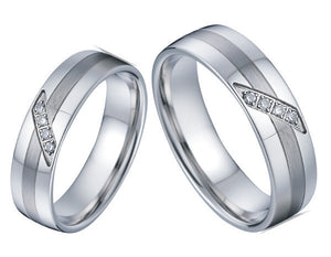 Ring - Exclusive Titanium Lesbian Wedding Rings