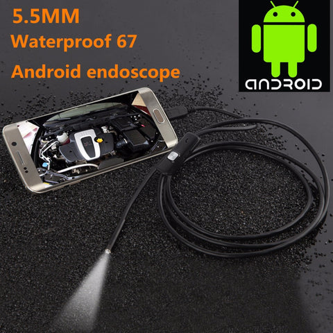 Endoscope USB Cable Inspection Camera  Waterproof With 6 LED For Lighting