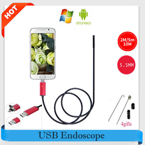Endoscope 5.5mm  2 IN 1 Inspection Camera