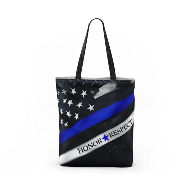 Honor Respect Blue Line Tote Bag