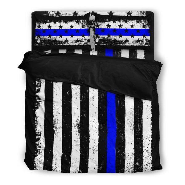 American Blue Line Bed Set