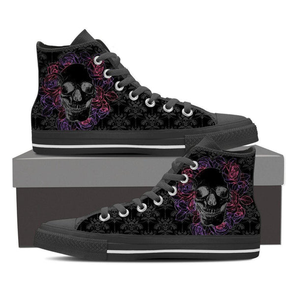 Dark Skull Womens High Top Shoes