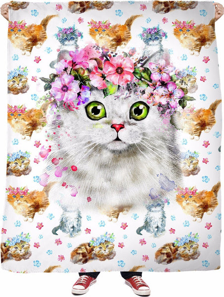 Cat Fantasy Fleece Blanket