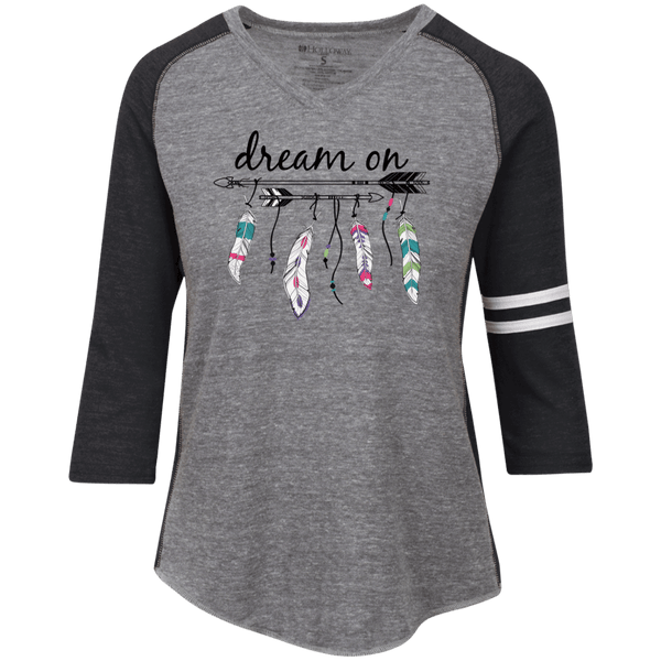 Dream On Ladies' Vintage V-neck Shirt