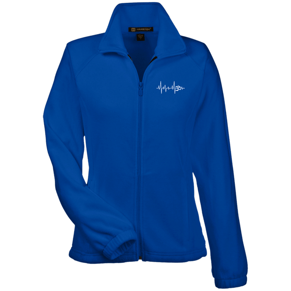 Om Heartbeat Womens Fleece Jacket