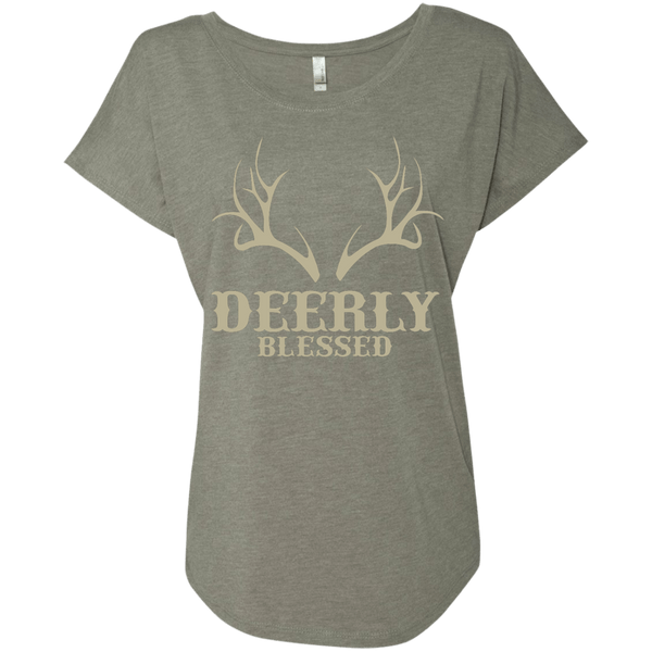 Deerly Blessed Ladies Dolman Sleeve