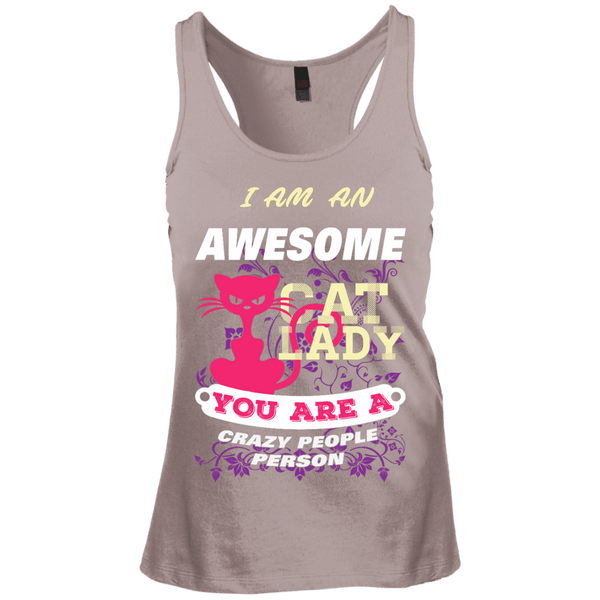 Awesome Cat Lady Juniors Racerback