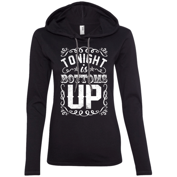 Bottoms Up Ladies Hoodie