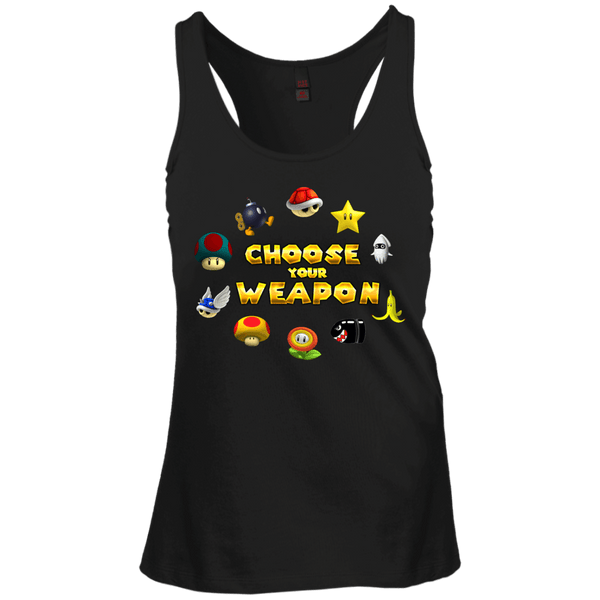 Choose Your Weapon Kart Juniors Racerback Tank Top