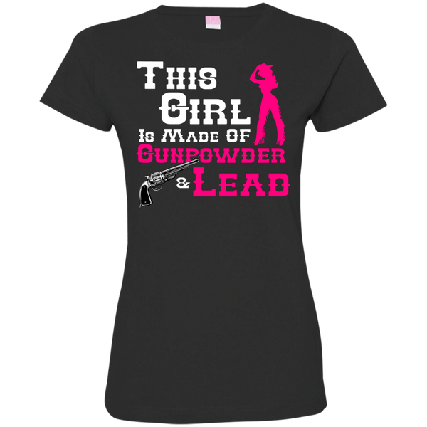 This Girl Is Made of Gunpowder Womens Tshirt