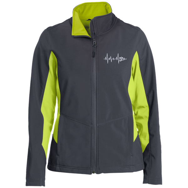 Om Heartbeat Ladies Soft Shell Jacket
