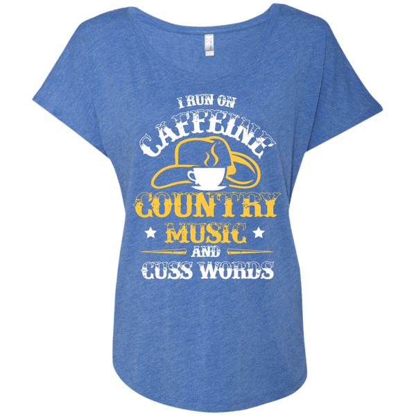 Caffeine & Country Ladies Dolman Sleeve