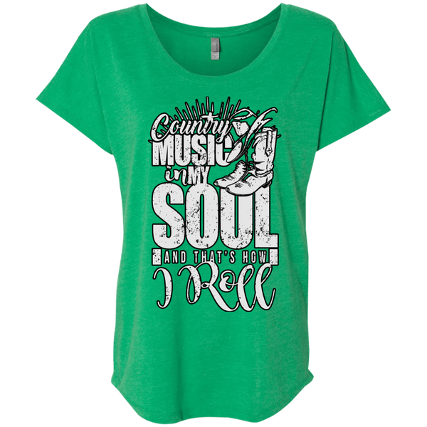Country Music Soul Triblend Dolman Sleeve