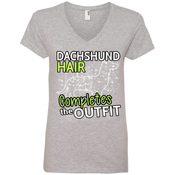 Dachshund Hair Ladies' V-Neck Tee