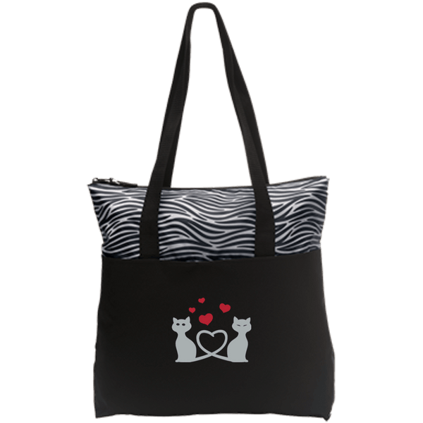 Kitty Love Zip Top Tote