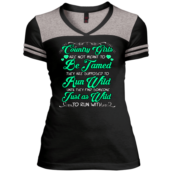 Country Girls Juniors Varsity V-Neck Tee