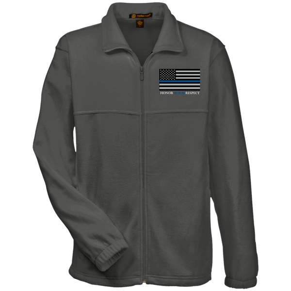 Honor Respect Blue Line Men's Fleece Full-Zip