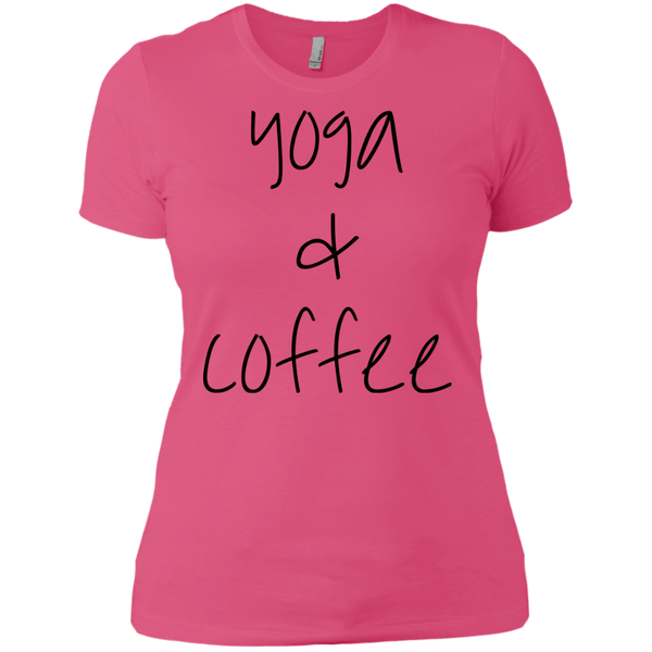 Yoga & Coffee Boyfriend Tee