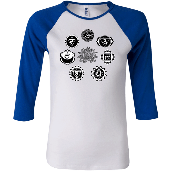 Chakra Lotus Junior 3/4 Sleeve Baseball T