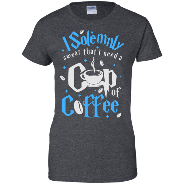 I Solemnly Swear I Need Coffee Ladies Tshirt