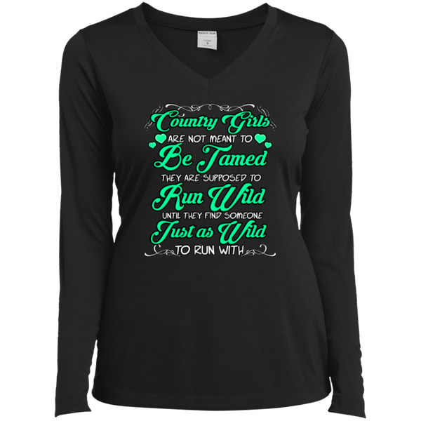 Country Girls Ladies LS Vneck Tee