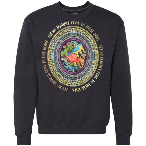Hamsa Prayer Heavyweight Crewneck Sweatshirt