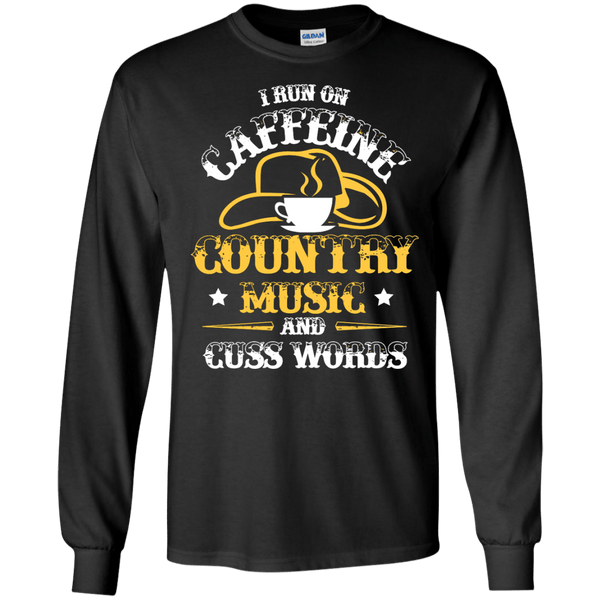 Caffeine & Country LS Ultra Cotton Tshirt