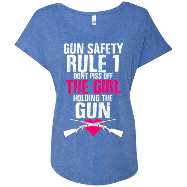 Gun Safety Rule #1 Ladies Dolman Sleeve