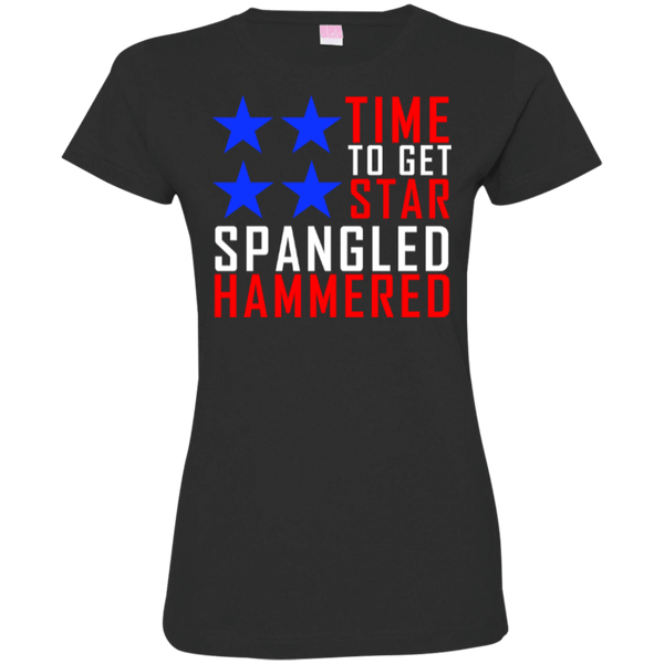 Time to Get Star Spangled Hammered Womens Tshirt
